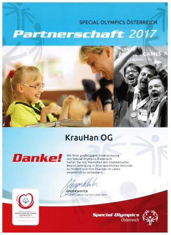 Urkunde Special Olympics Krauhan